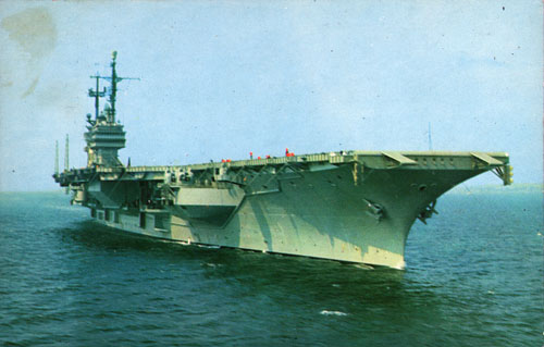 The USS Saratoga CVA-60 cira 1958