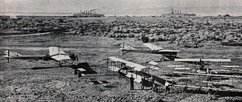 Field at what is now NAS North Island looked like this in 1911 when flyers began to set up camp.