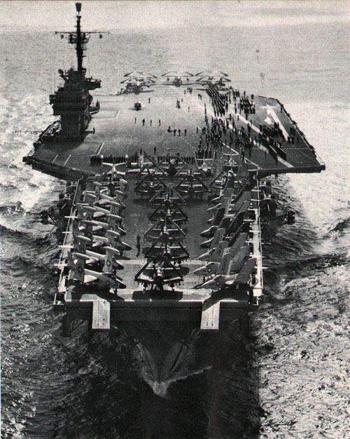 MODERN CARRIERS form a hard-hitting and mobile striking arm of the Fleet.