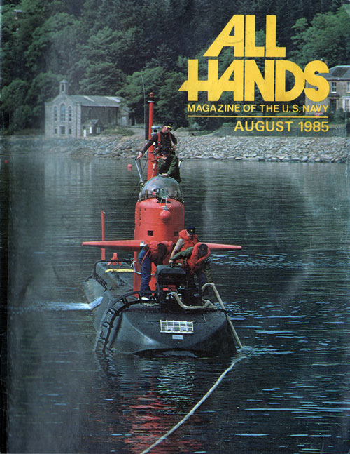August 1985 All Hands Magazine Front Cover
