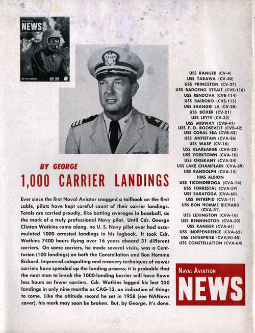 1,000 CARRIER LANDINGS