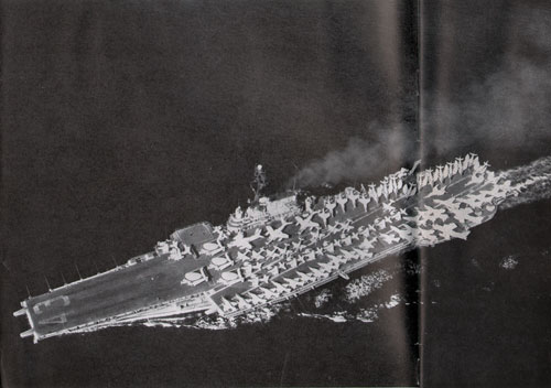 USS Coral Sea with its scores of aircraft