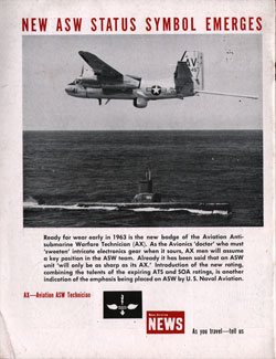 Back Cover Story on Aviation Antisubmarine Warfare Technician (AX)