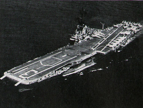 HER SECOND combat cruise off Vietnam completed, Bon Homme Richard steams towards home.