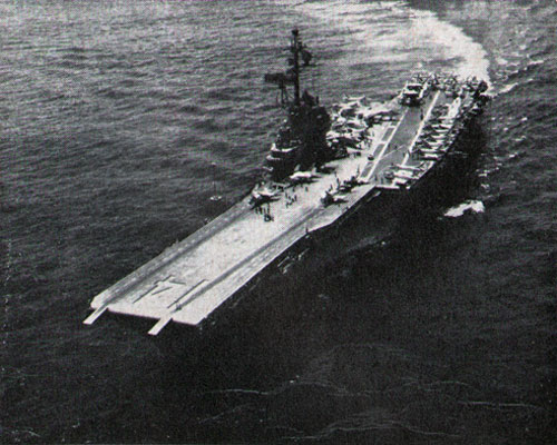 The Carrier Ticonderoga returns to San Diego after being deployed to vietnam.
