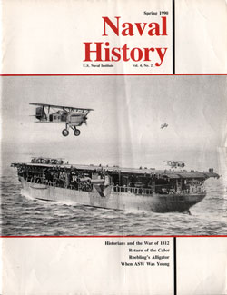 Spring 1990 Issue of Naval History Magazine