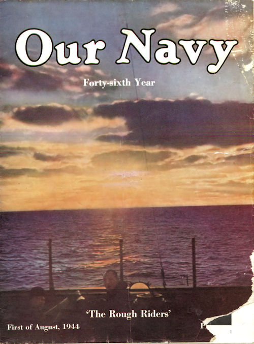 Our Navy Magazine - Front Cover - 1 August 1944 Issue - The Rough Riders
