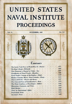 1945-11 Naval Institute Proceedings