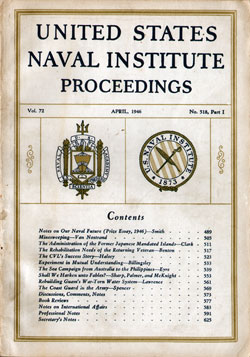 1946-04 Part One Naval Institute Proceedings