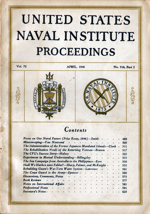 April 1946 (Part I) Proceedings Magazine: United States Naval Institute