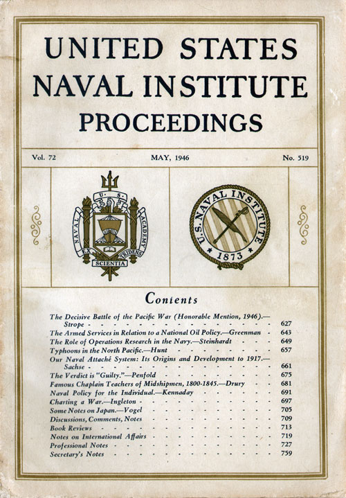 May 1946 Proceedings Magazine: United States Naval Institute