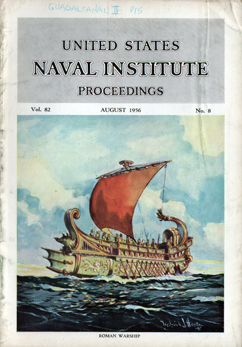 August 1956 Proceedings Magazine: United States Naval Institute