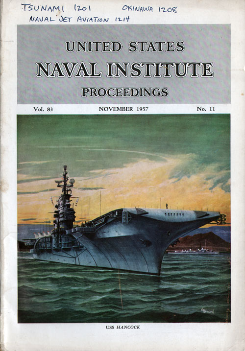 November 1957 Proceedings Magazine: United States Naval Institute