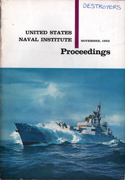 November 1962 Proceedings Magazine: United States Naval Institute