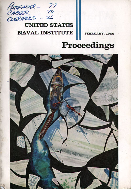 Front Cover, US Naval Institute Proceedings Magazine, Volume 92, Number 2, Whole No. 756, February 1966.