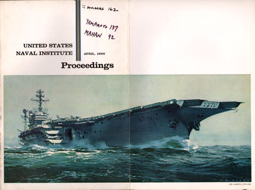 April 1966 Proceedings Magazine Expanded Front Cover