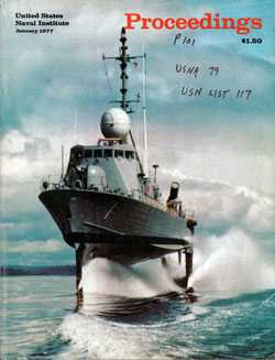 January 1977 Proceedings Magazine: United States Naval Institute