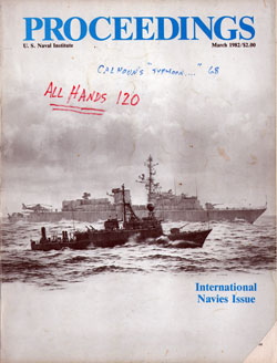 March 1982 Proceedings Magazine: United States Naval Institute