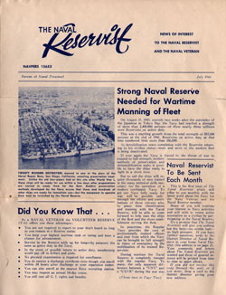 1 July 1946 The Naval Reservist and the Naval Veteran Newsletter