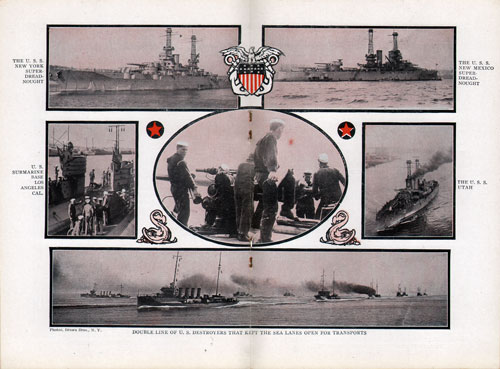 Collage of Navy Photographs from World War I