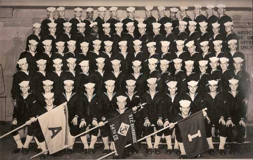 US Naval Recruits, Bainbridge, 1953 Company 54 Group Photograph