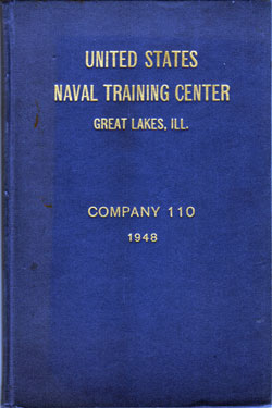 Front Cover, Navy Boot Camp Book 1948 Company 110 The Keel