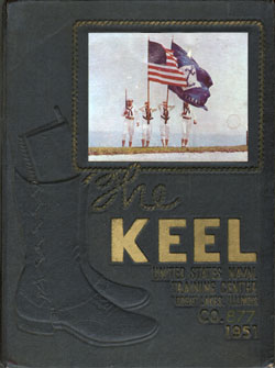 US Naval Training Center Graduation Book Front Cover