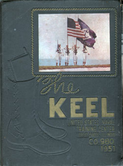 USNTC - Great Lakes - The Keel - Company 980 Yearbook 1951