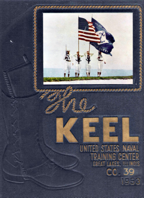 USNTC Great Lakes Keel Yearbook 1953 Co 39