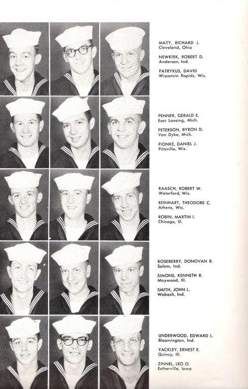 1953 Company 39 USNTC Great Lakes Recruits Page 3