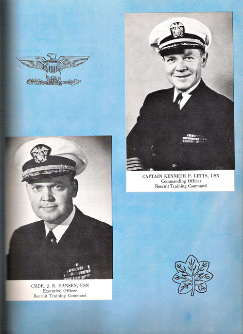 1953 Company 39 USNTC Great Lakes Commanders Page 2