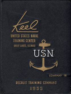 Front Cover, Navy Boot Camp 1955 Company 100 The Keel