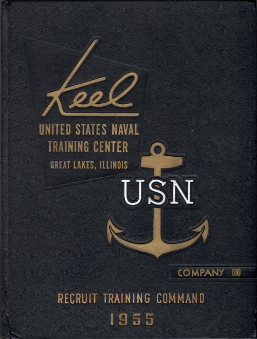 USNTC - Great Lakes - The Keel - Company 100 Yearbook 1955