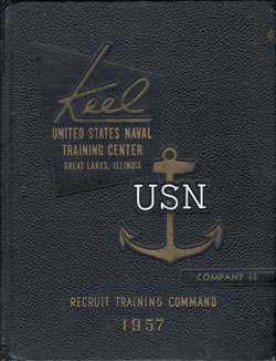 Front Cover, Navy Boot Camp 1957 Company 046 The Keel
