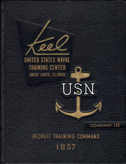Front Cover, Navy Boot Camp 1957 Company 135 The Keel
