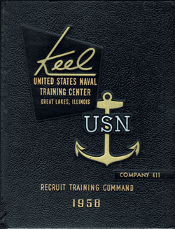 USNTC - Great Lakes - The Keel - Company 411 Yearbook 1958