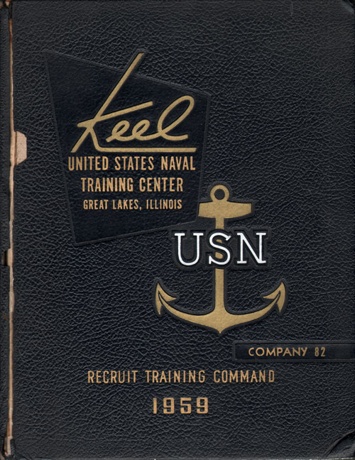 USNTC - Great Lakes - The Keel - Company 82 Yearbook 1959