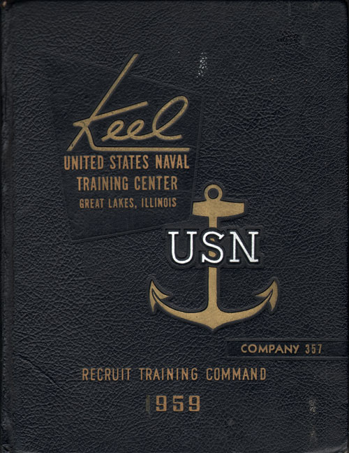 USNTC - Great Lakes - The Keel - Company 357 Yearbook 1959