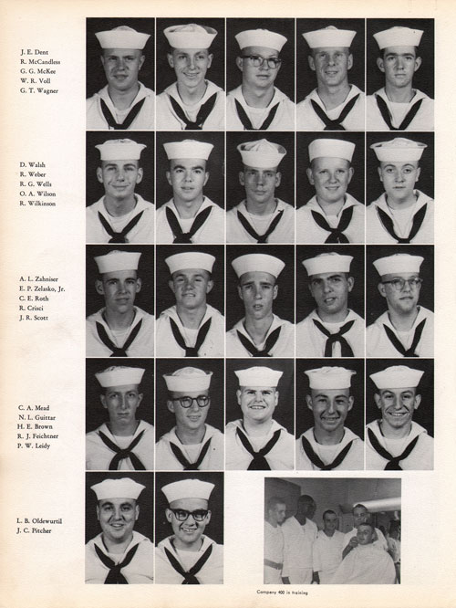 1960 Company 400 USNTC Great Lakes Recruits Page 4