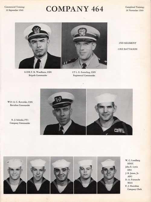 1960 Company 464 USNTC Great Lakes Recruits Page 1