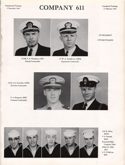 1960 Company 611 USNTC Great Lakes Recruits Page 1