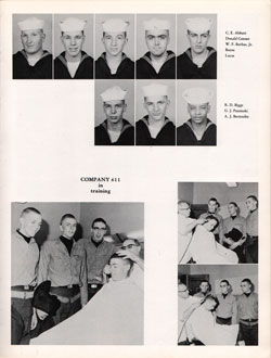 1960 Company 611 USNTC Great Lakes Recruits Page 5