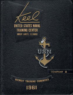 USNTC Great Lakes Keel Yearbook 1961 Co 69