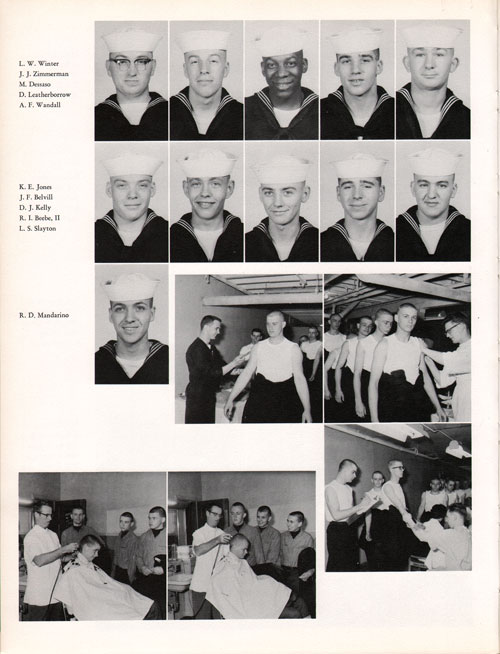 1961 Company 69 USNTC Great Lakes Recruits Page 4