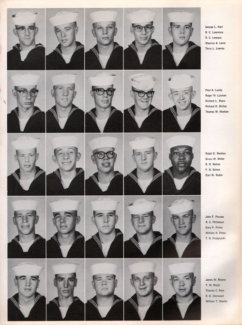 1961 Company 493 USNTC Great Lakes Recruits Page 3