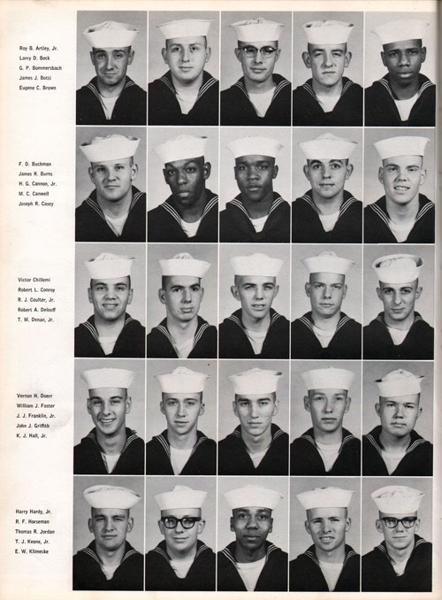 1961 Company 558 USNTC Great Lakes Recruits Page 2