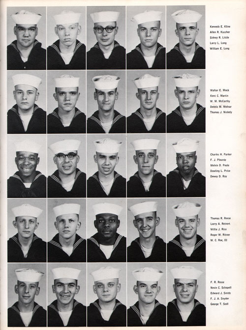 1961 Company 558 USNTC Great Lakes Recruits Page 3