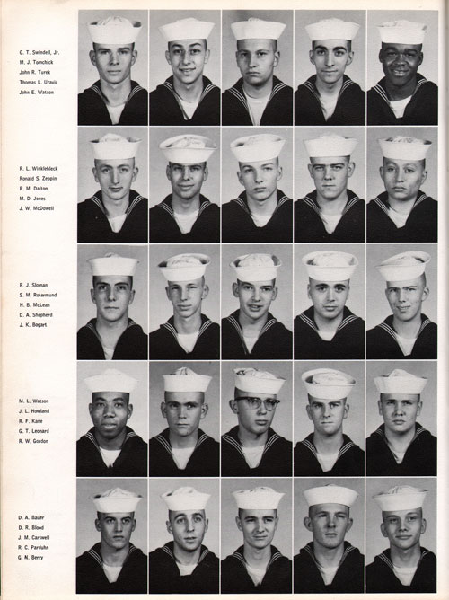 1961 Company 558 USNTC Great Lakes Recruits Page 4
