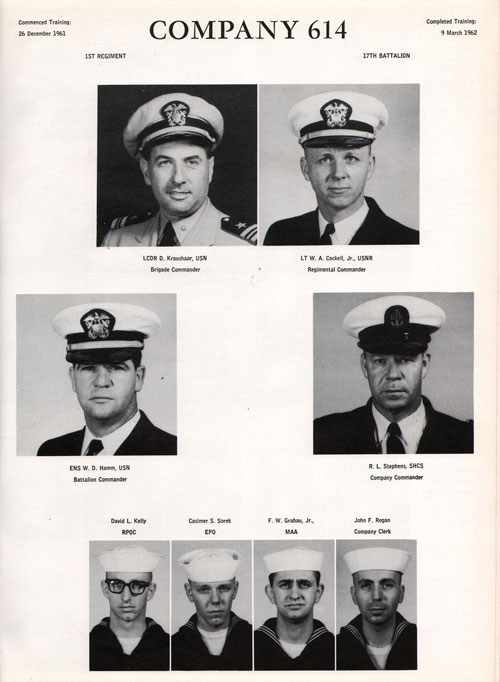 1961 Company 614 USNTC Great Lakes Recruits Page 1