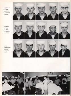 1961 Company 614 USNTC Great Lakes Recruits Page 4